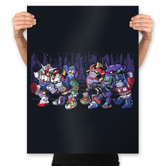 Where the Wild Mechs Are - Prints - Posters - RIPT Apparel