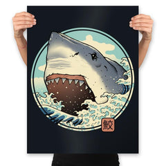 White Shark Attack! - Prints - Posters - RIPT Apparel