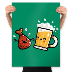 Wings and Beer - Prints - Posters - RIPT Apparel