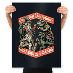 Wizards vs Lizards - Prints - Posters - RIPT Apparel