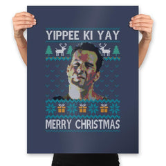 Yipee ki Yay Merry Christmas - Prints - Posters - RIPT Apparel