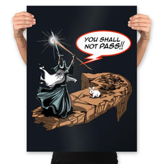 You Shall Not Pass Rabbit - Prints - Posters - RIPT Apparel