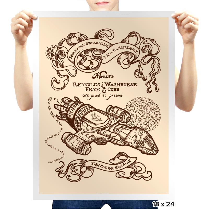The Smuggler's Map - Prints - Posters - RIPT Apparel