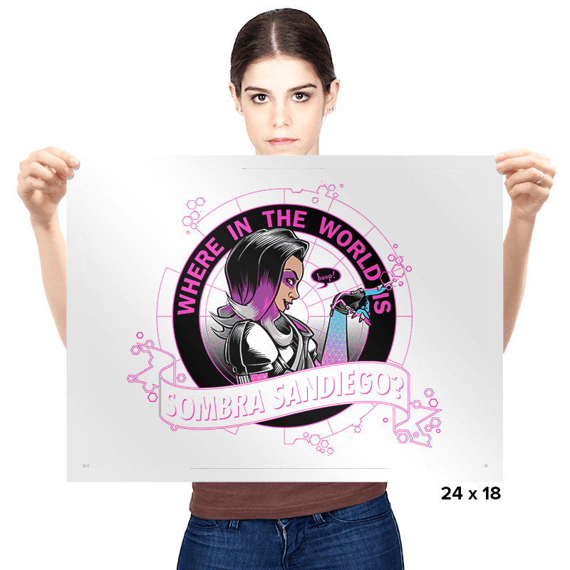 Where in the World is Sombra Sandiego? - Prints - Posters - RIPT Apparel