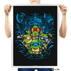 Poke Turtles - Prints - Posters - RIPT Apparel