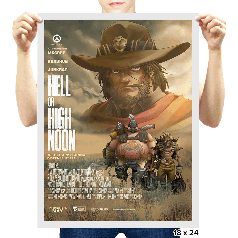 Hell or High Noon - RIPTcademy2017 - Prints - Posters - RIPT Apparel