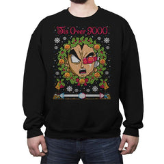 Tis Over 9000 COD Holiday Sweater - Crew Neck Sweatshirt - Crew Neck Sweatshirt - RIPT Apparel