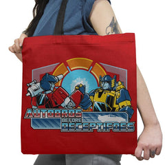 Autobros Before Decepti-foes Exclusive - Tote Bag - Tote Bag - RIPT Apparel