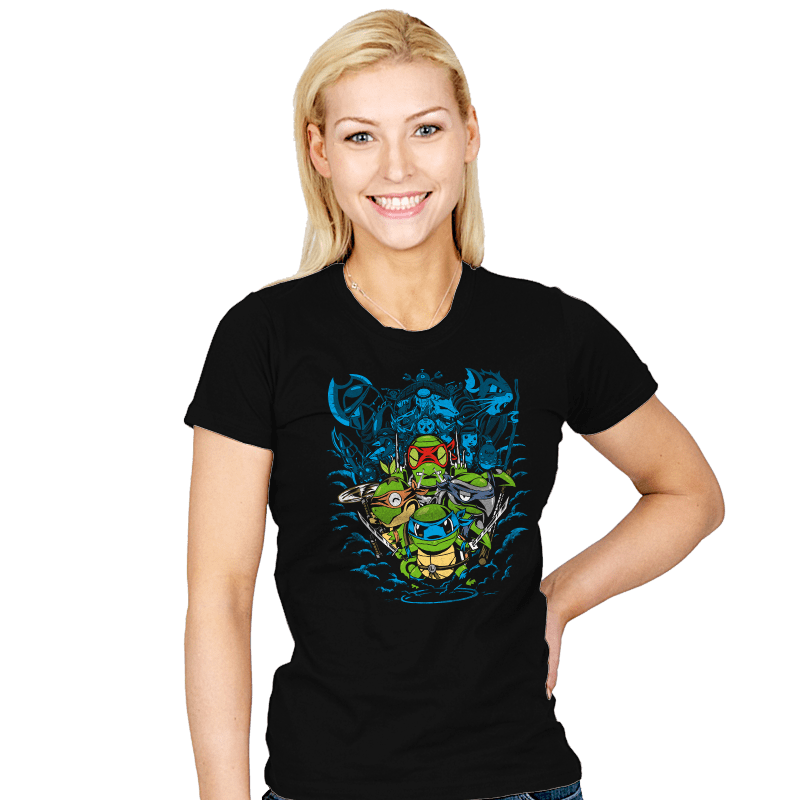 Poke Turtles - Womens - T-Shirts - RIPT Apparel
