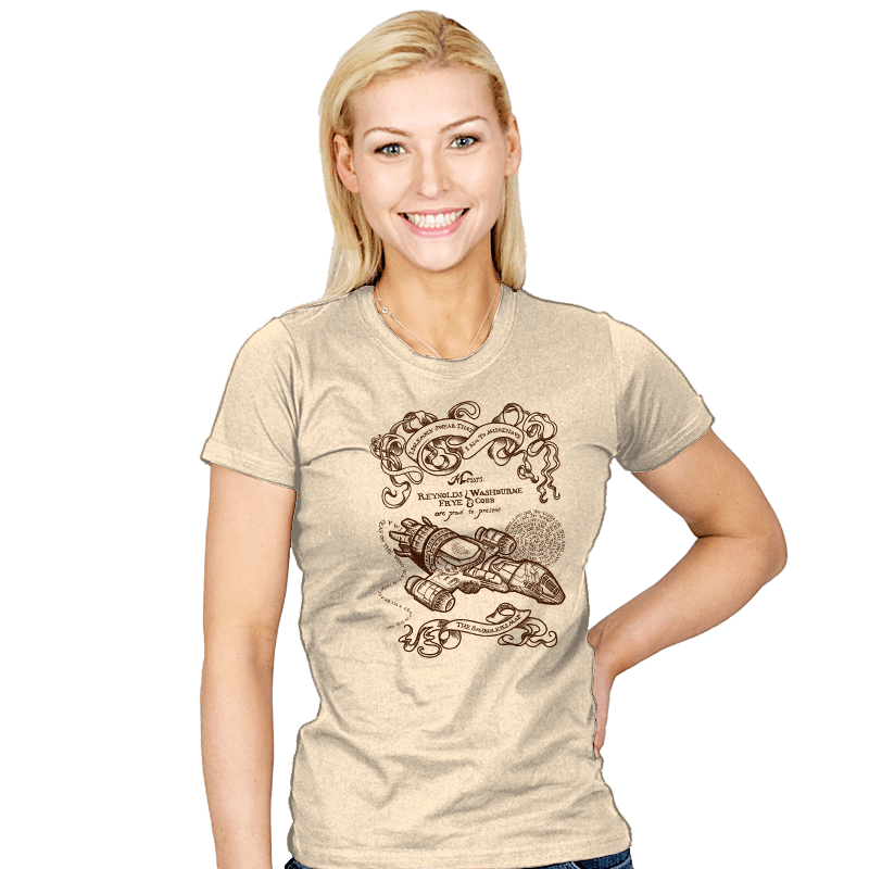 The Smuggler's Map - Womens - T-Shirts - RIPT Apparel