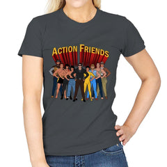 Action Friends - Womens - T-Shirts - RIPT Apparel