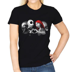 Her Skeleton, His Doll - Womens - T-Shirts - RIPT Apparel
