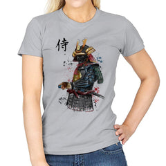 Samurai Watercolor - Womens - T-Shirts - RIPT Apparel