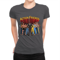 Action Friends - Womens Premium - T-Shirts - RIPT Apparel
