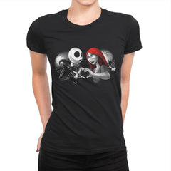 Her Skeleton, His Doll - Womens Premium - T-Shirts - RIPT Apparel