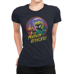 Marvin Attacks! - Womens Premium - T-Shirts - RIPT Apparel