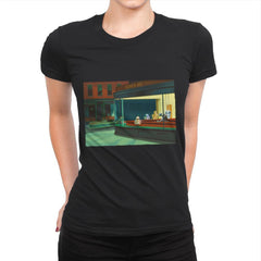 NightDroids - Womens Premium - T-Shirts - RIPT Apparel