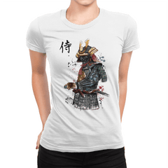 Samurai Watercolor - Womens Premium - T-Shirts - RIPT Apparel