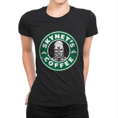 Skynet's Coffee - Womens Premium - T-Shirts - RIPT Apparel
