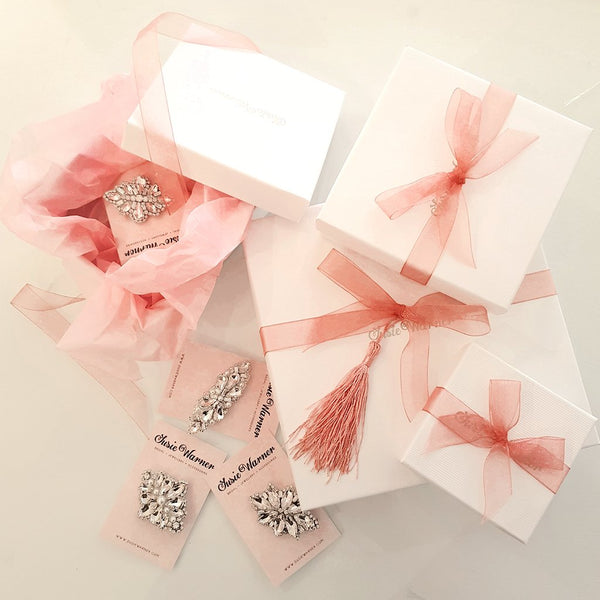 BEAUTIFUL GIFT PACKAGING | SUSIE WARNER BRIDAL ACCESSORIES