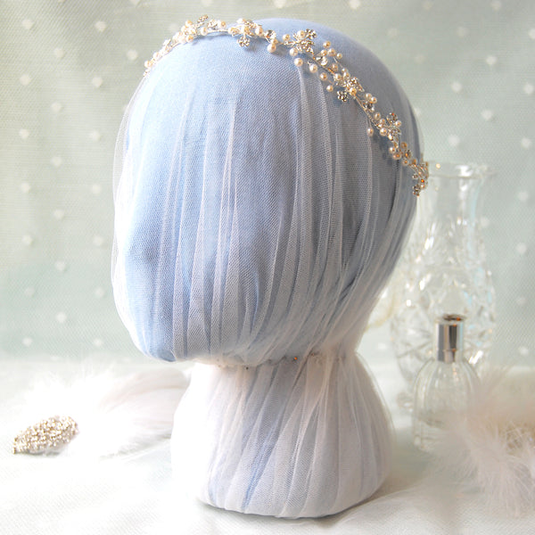 Amazing Pearl & Diamante Vintage Boho Bridal Hair Vine by Susie Warner
