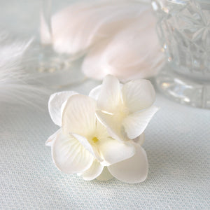 Small White Hydrangea Wedding Hair Flower Clip by Susie Warner Jewellery & Accessories