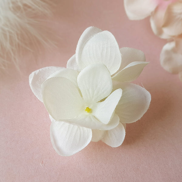 Small Vintage White Hydrangea Bridal Bridesmaid Wedding Hair Flower Clip by Susie Warner Jewellery & Accessories