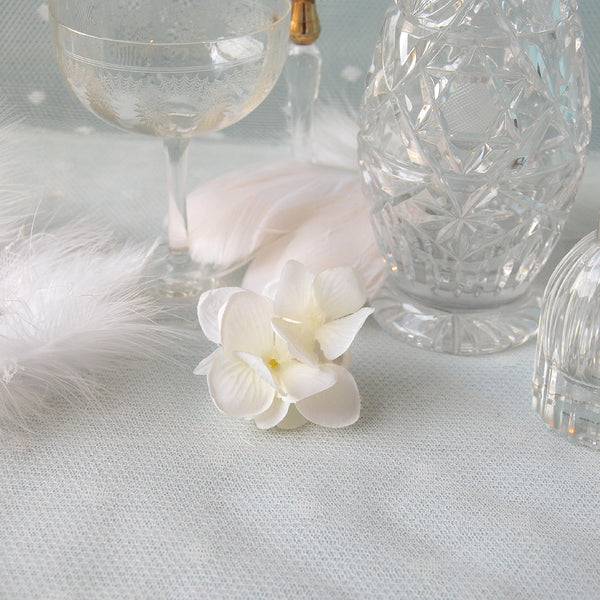 Small Vintage White Hydrangea Wedding Hair Flower Clip by Susie Warner Jewellery & Accessories