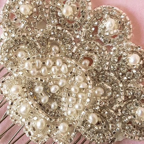 Ava Vintage Crystal Fan Wedding Hair Comb