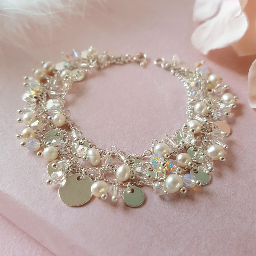 Silver 3 Row Wedding Bracelet | A Kind of Magic by Susie Warner Bridal Jewellery