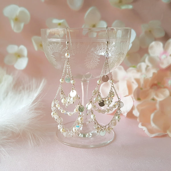 Silver & Crystal Chandelier Earrings | A Kind of Magic by Susie Warner Wedding Jewellery