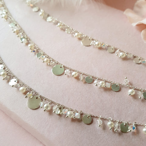 Silver Disc Necklace | A Kind of Magic by Susie Warner Wedding Jewellery