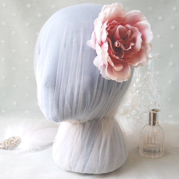 Blushing Beauty Vintage Pink Rose Wedding Hair Flower Clip