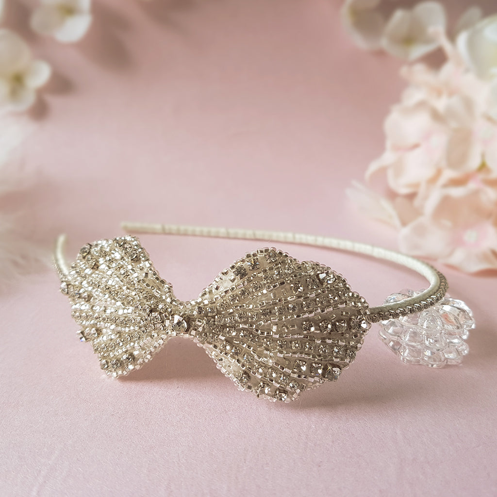 Clara Art Deco Luxury Wedding Headband