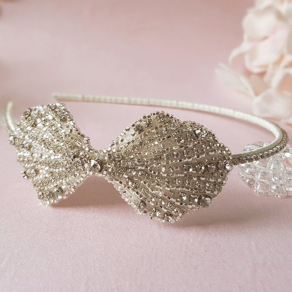 Clara Art Deco Luxury Wedding Side Tiara