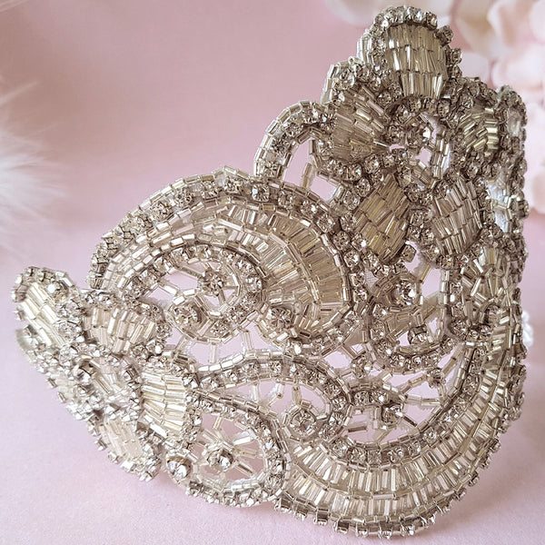 Claudette Art Deco Luxury Wedding Headdress