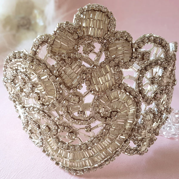Claudette Art Deco Luxury Wedding Headpiece