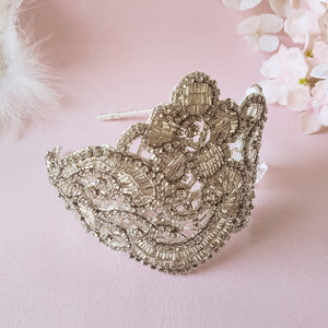 Claudette Art Deco Luxury Wedding Headdress Bridal Headpiece