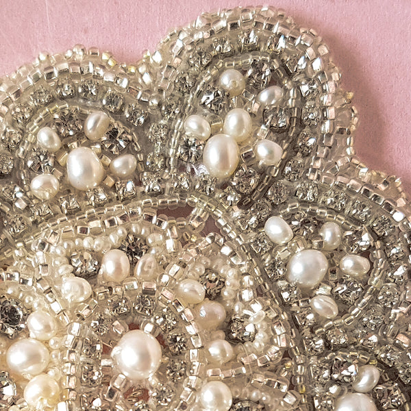 Cleo Art Deco Pearl Bridal Hair Comb for Weddings