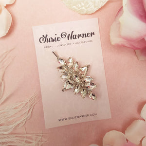 TEARDROP DIAMANTE CRYSTAL HAIR CLIP | SUSIE WARNER WEDDING ACCESSORIES