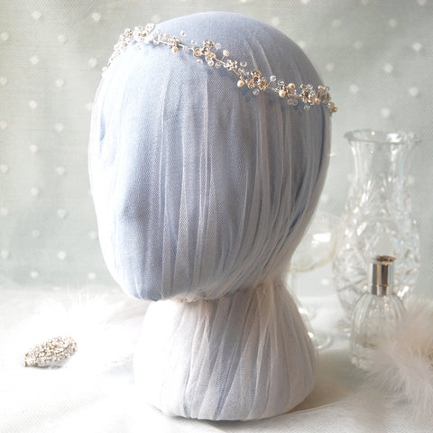 Delightful Vintage Diamante Flower Bridal Hair Vine Headdress