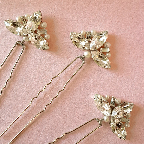 VINTAGE FAN WEDDING HAIR PINS | SUSIE WARNER BRIDAL HAIR PINS