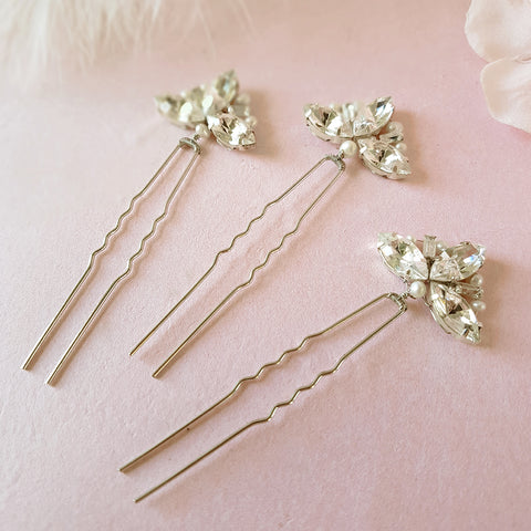 VINTAGE ART DECO FAN WEDDING HAIR PINS | SUSIE WARNER BRIDAL ACCESSORIES