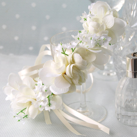 Dreamy Small White Bridal Flower Crown by Susie Warner Jewellery & Accessories