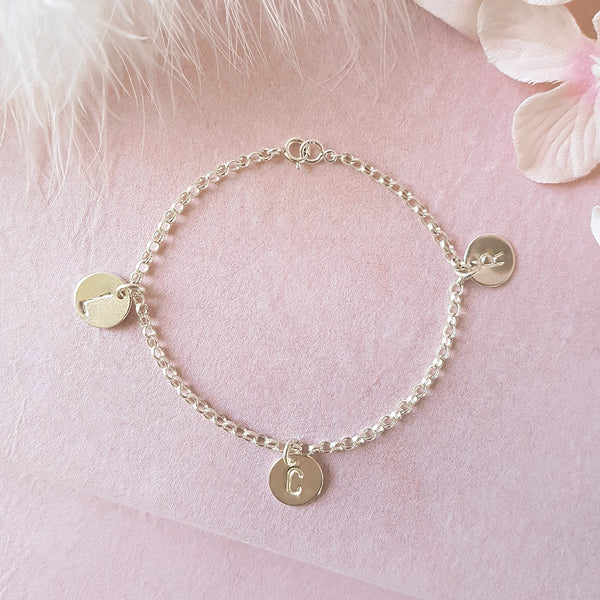Especially For You Personalised Silver Initial Bracelet