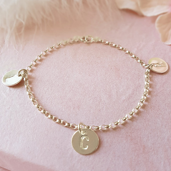 Especially For You Personalised Sterling Silver Initial Bracelet