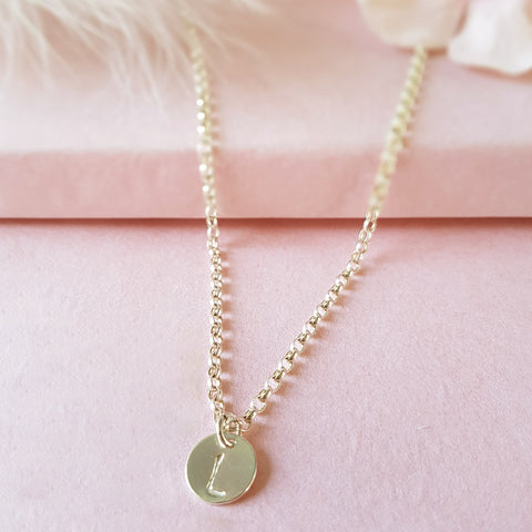 Especially For You Personalised Silver Initial Necklace