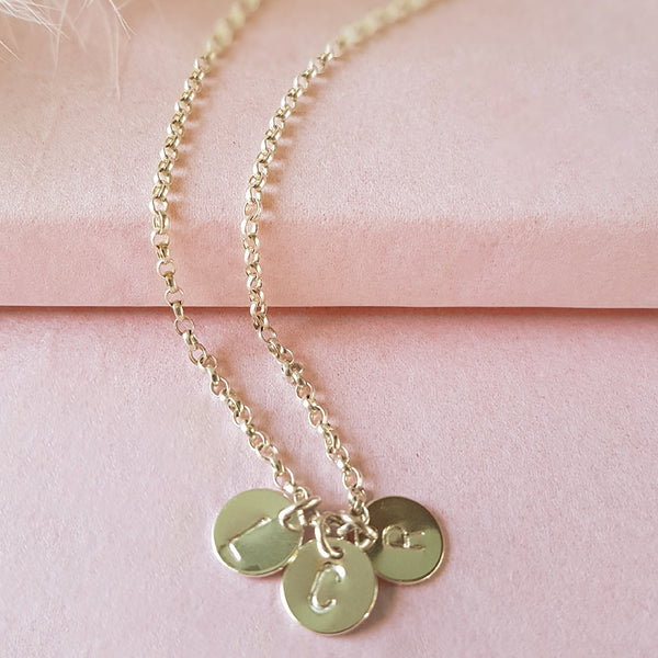 Especially For You Personalised Sterling Silver Initial Necklace