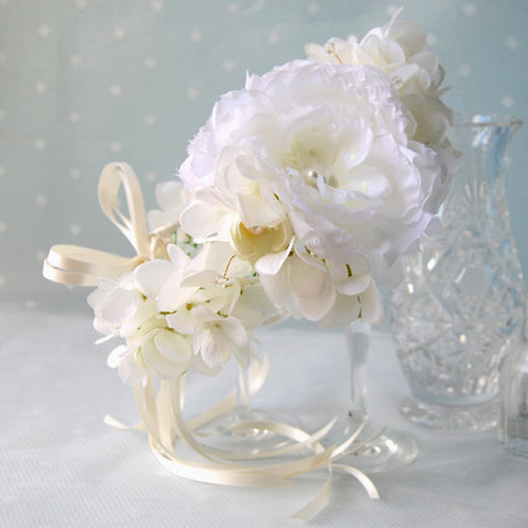 Fairytale Statement Vintage Ivory Bridal Flower Crown by Susie Warner