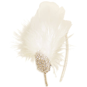 Gigi Statement Vintage Crystal Feather Wedding Fascinator Headdress